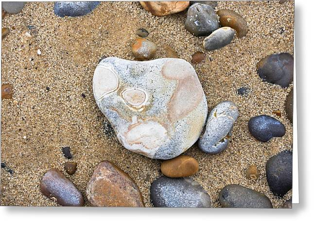 Sand Pattern Greeting Cards - Beach pebbles Greeting Card by Tom Gowanlock