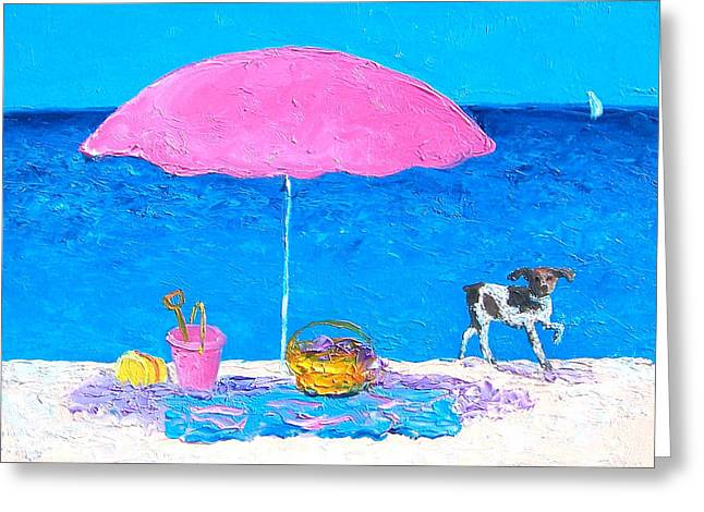 Beach Cottage Style Greeting Cards - Beach Picnic Greeting Card by Jan Matson