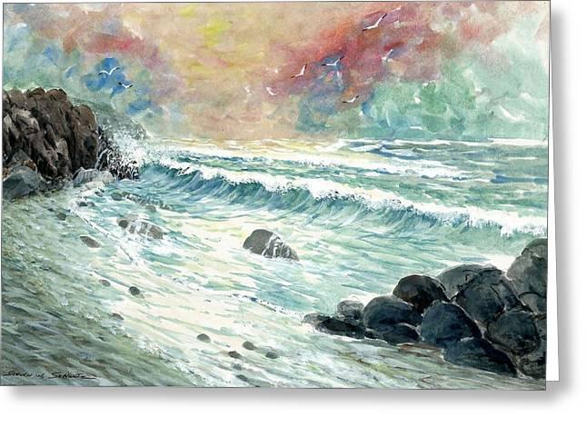 Beach Tide Greeting Card by Steven Schultz