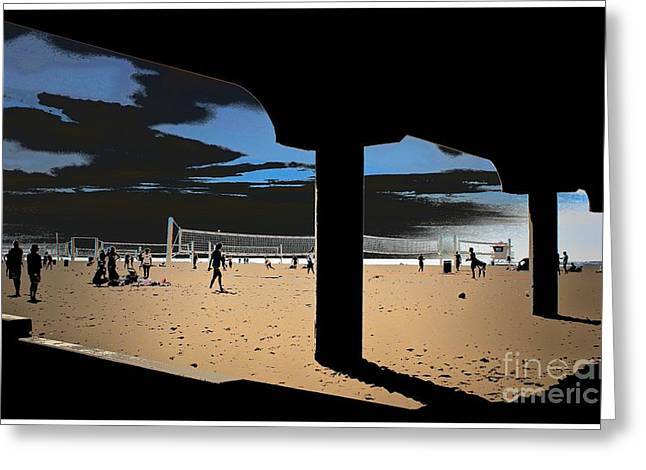 Pch Digital Art Greeting Cards - Beach Volleyball Greeting Card by RJ Aguilar