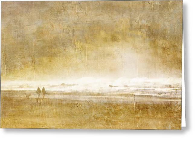 Companionship Greeting Cards - Beach Walk Greeting Card by Carol Leigh