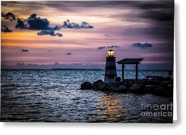 Ocean Photography Greeting Cards - Beacon of Hope Greeting Card by Rene Triay Photography
