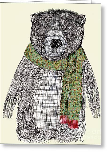 Bear Drawings Greeting Cards - Bear Greeting Card by Bri Buckley