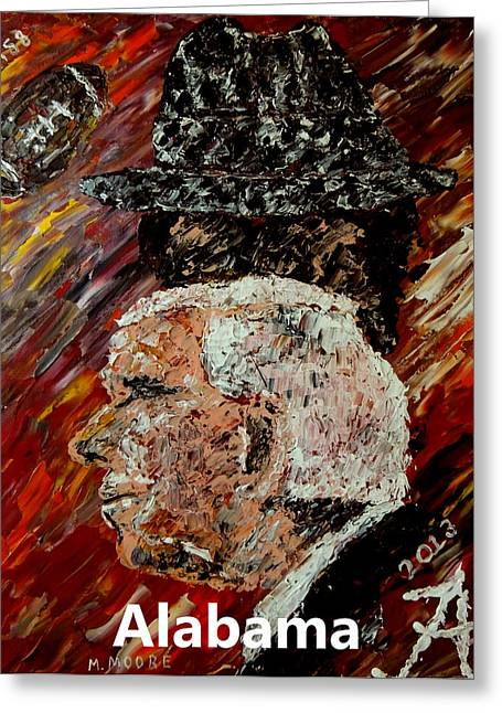 Pallet Knife Greeting Cards - Bear Bryant and Mal Moore  Greeting Card by Mark Moore