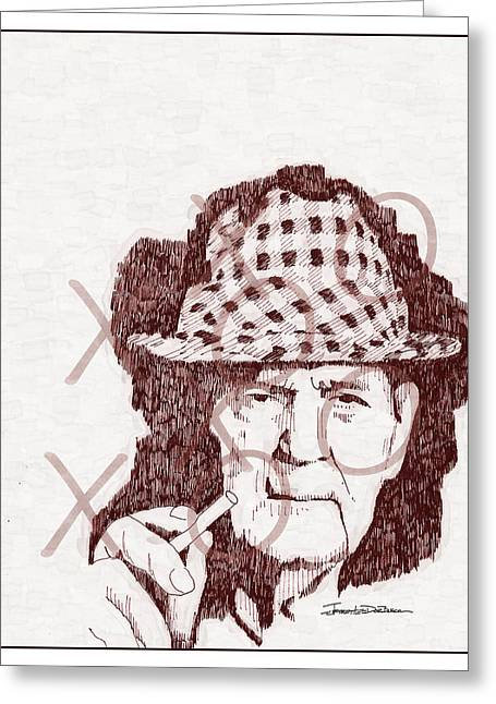 Bear Bryant Drawings Greeting Cards - Bear Greeting Card by Jerrett Dornbusch