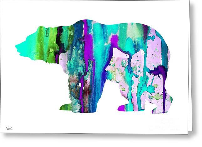 Bear Art Greeting Cards - Bear Greeting Card by Luke and Slavi