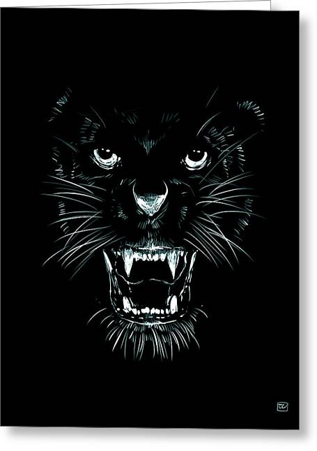 Fears Greeting Cards - Beast Greeting Card by Giuseppe Cristiano