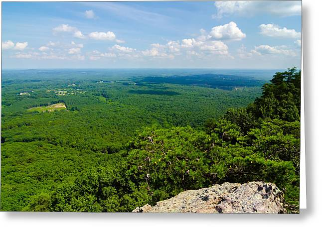 Gastonia Greeting Cards - Beautiful Aerial Landscape Views From Crowders Mountain North Ca Greeting Card by Alexandr Grichenko