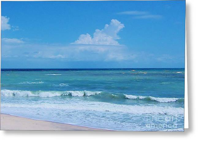 Best Ocean Photography Greeting Cards - Beautiful - Florida - Beach Greeting Card by D Hackett