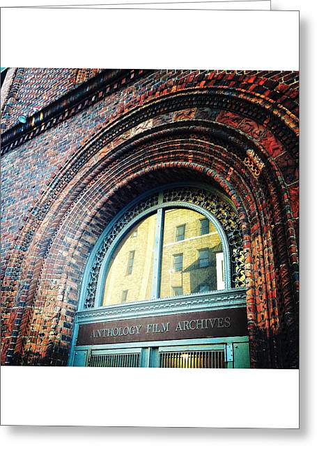 Anthology Film Archives Greeting Cards - Beautiful Brick Greeting Card by Natasha Marco