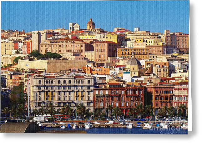 Localities Greeting Cards - Beautiful Cagliari Greeting Card by Sue Melvin