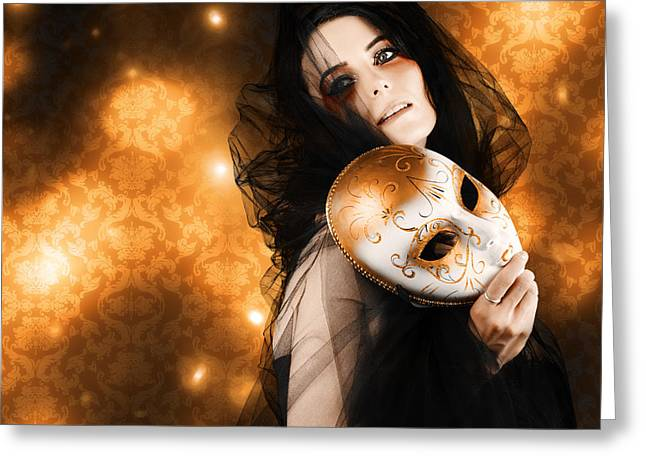Beautiful Glamour Woman With Bright Soft Makeup Greeting Card by Jorgo Photography - Wall Art Gallery
