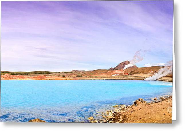Crater Lake Panorama Greeting Cards - Beautiful Iceland Greeting Card by JR Photography