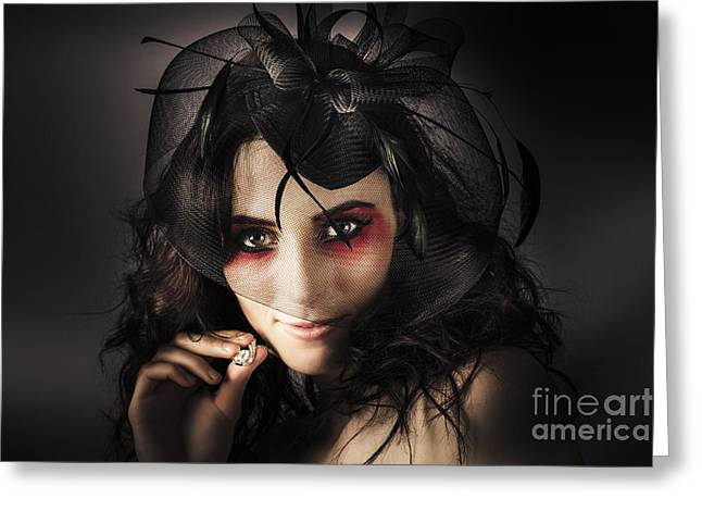 Beautiful Jewellery Woman Wearing Necklace Greeting Card by Jorgo Photography - Wall Art Gallery