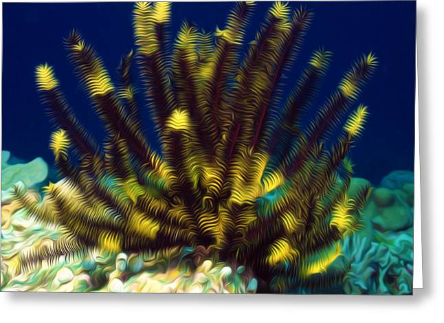 Sealive Paintings Greeting Cards - Beautiful marine plants 10 Greeting Card by Lanjee Chee