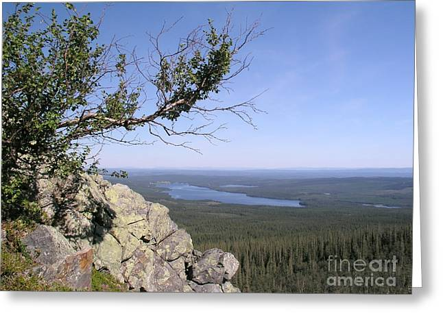 Fall Grass Greeting Cards - Beautiful mountain landscape  Greeting Card by IB Photo