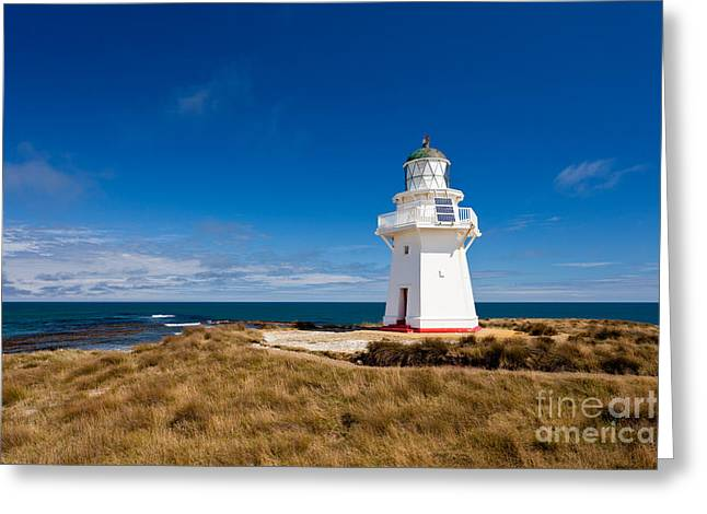 Restore The Shore Greeting Cards - Beautiful Waipapa Point Lighthouse The Catlins NZ Greeting Card by Stephan Pietzko