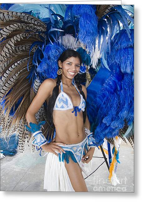 Carnivale Greeting Cards - Beautiful Women of Brazil 9 Greeting Card by David Smith