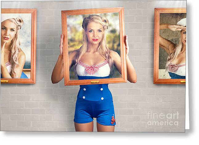 Beauty In The Art Of Picture Perfect Portrait Greeting Card by Jorgo Photography - Wall Art Gallery