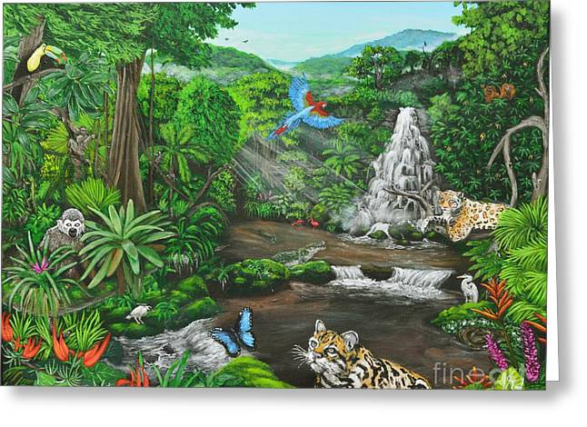 Beauty Of The Amazon Greeting Card by Jeremy Reed
