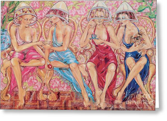 Recently Sold -  - Beauty Pastels Greeting Cards - Beauty Parlour Greeting Card by Barbara Black