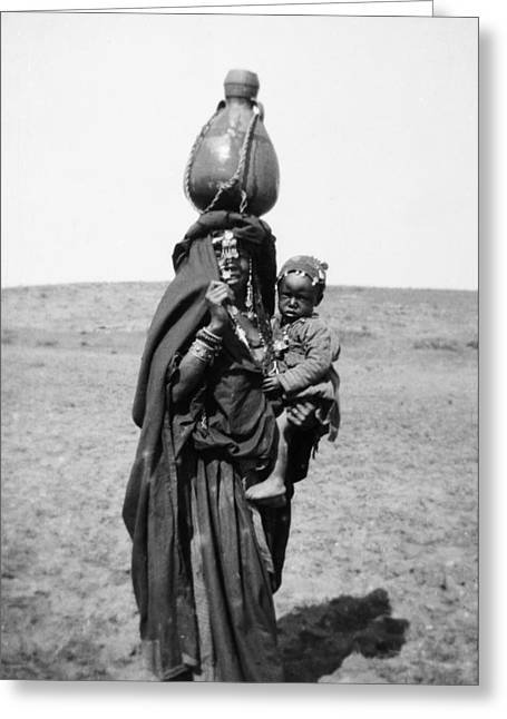 Bedouin Woman & Child Greeting Card by Granger