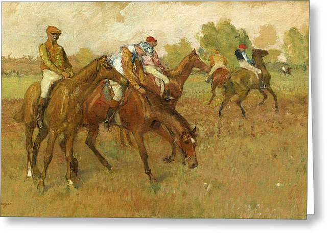Before The Races Greeting Cards - Before the Race Greeting Card by Edgar Degas