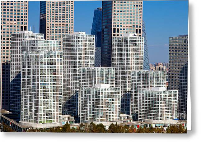 Beijing Central Business District China Greeting Card by Fototrav Print