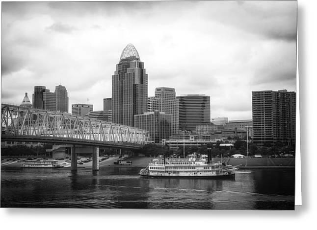 Steamboat Greeting Cards - Belle of Cincinnati  Greeting Card by Mountain Dreams