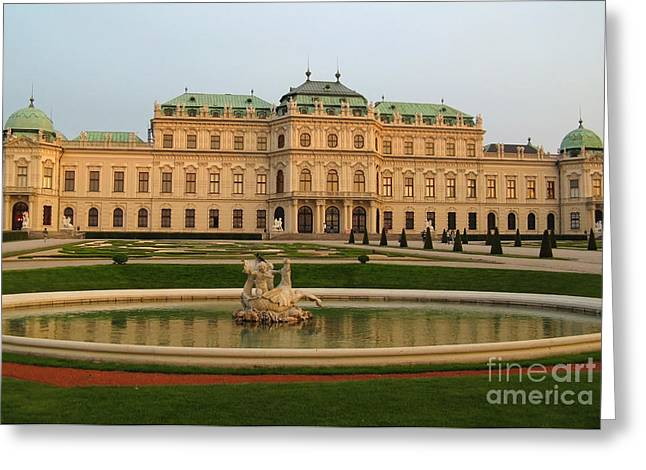 Wien Greeting Cards - Belvedere Palace in Vienna Greeting Card by Kiril Stanchev