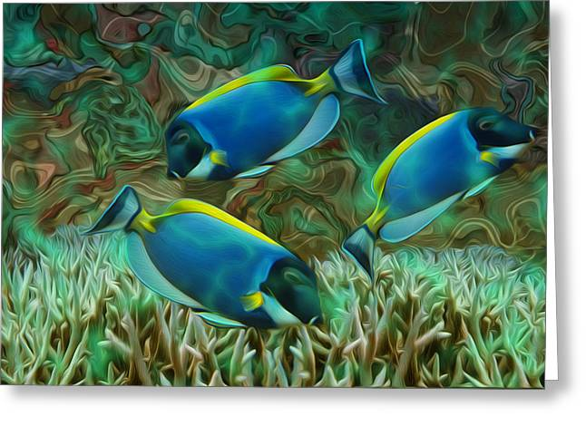 Beneath The Waves Series Greeting Card by Jack Zulli