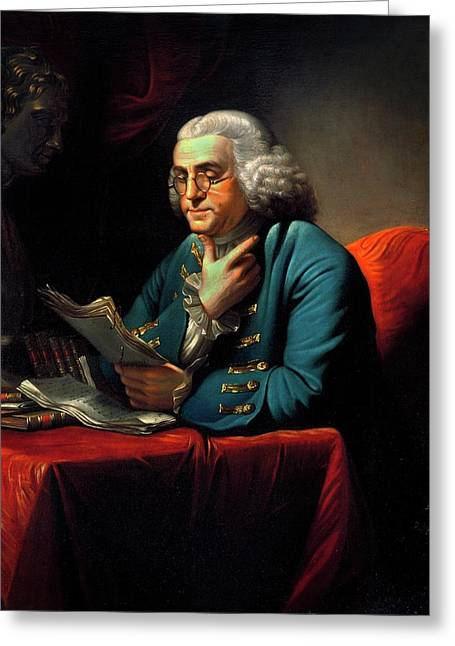 Benjamin Franklin Greeting Card by American Philosophical Society