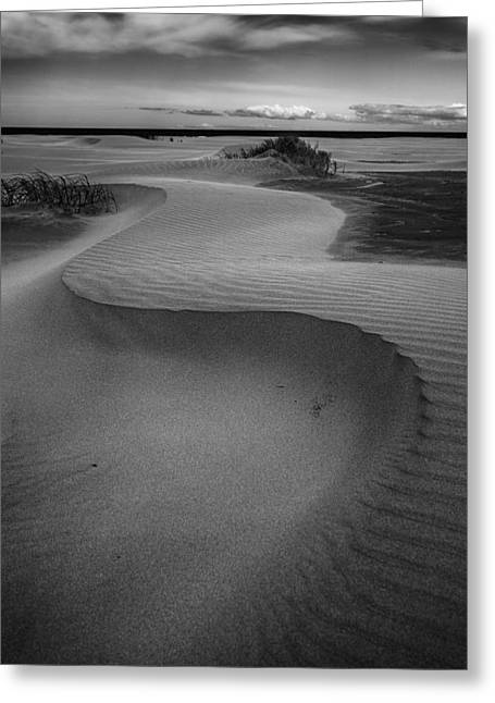 Sand Pattern Greeting Cards - Benone Curves Greeting Card by Nigel R Bell