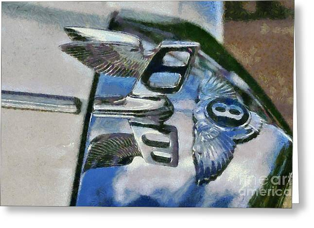 Car Mascot Paintings Greeting Cards - 1975 Bentley T Series Greeting Card by George Atsametakis