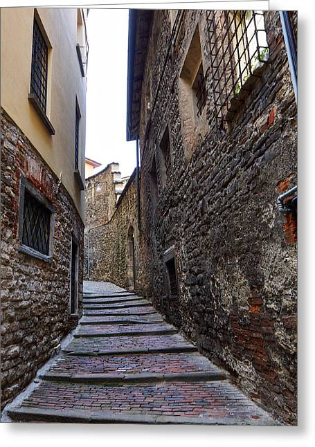 Bergamo Alta Greeting Card by Jouko Lehto
