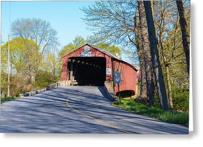 Berks County Greeting Cards - Berks County - Griesemers Covered Bridge Greeting Card by Bill Cannon