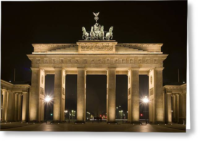 Historic Places Greeting Cards - Berlin Brandenburg Gate Greeting Card by Frank Tschakert