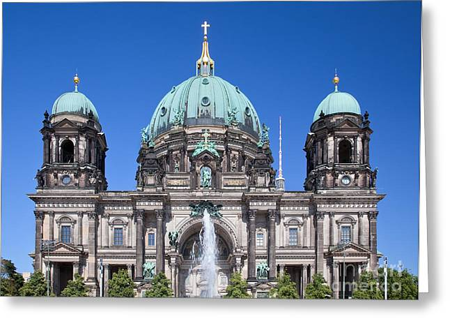 Berlin Cathedral Greeting Cards - Berlin Cathedral Greeting Card by Michal Bednarek