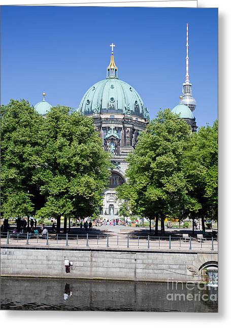 Berlin Cathedral Greeting Cards - Berlin Catherdral Greeting Card by Michal Bednarek