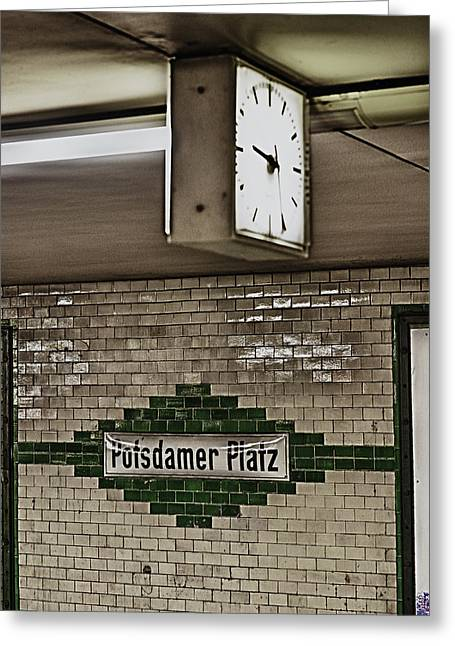 U-bahn Photographs Greeting Cards - Berlin Subway Station Greeting Card by Hans Engbers