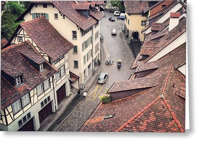 Berne Canton Greeting Cards - Berne Switzerland Greeting Card by Anna Bryukhanova