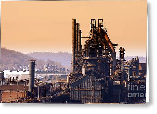 Marcia Lee Jones Greeting Cards - Bethlehem Steel Greeting Card by Marcia Lee Jones