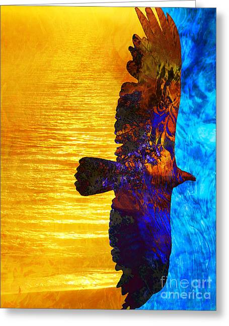 Spirit Guides Greeting Cards - Between Worlds Greeting Card by Robert Ball