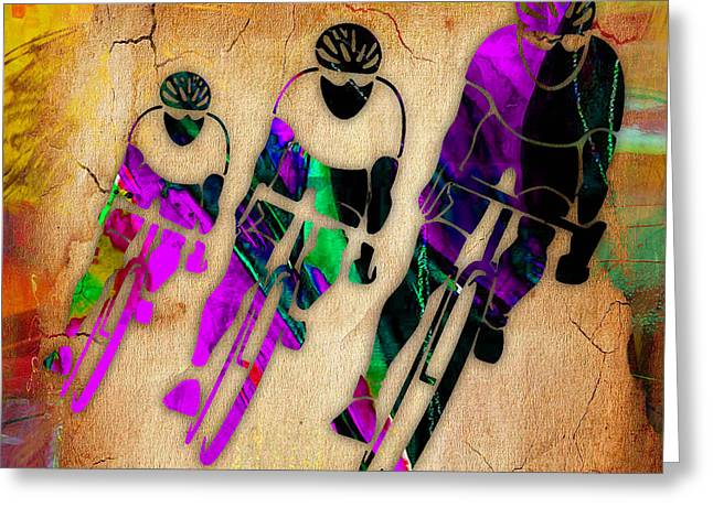 Race Greeting Cards - Bicycle Art Greeting Card by Marvin Blaine