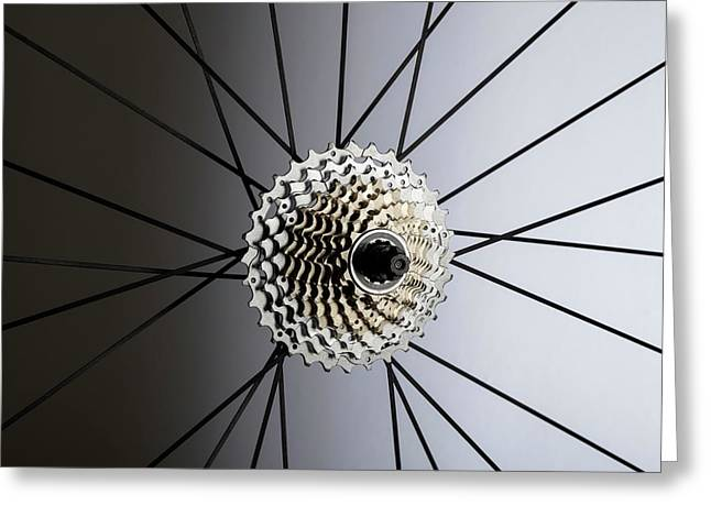 Bicycle Cassette Greeting Card by Science Photo Library