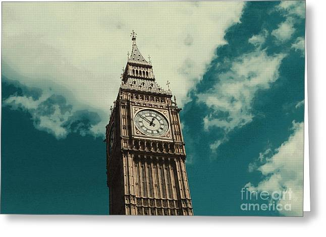Mediaeval Greeting Cards - Big Ben in London Greeting Card by Adam Asar