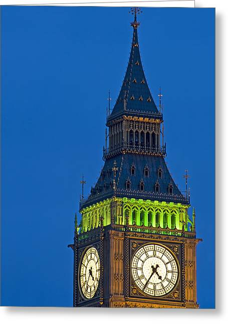 Kate Middleton Photographs Greeting Cards - Big Ben London Greeting Card by Matthew Gibson