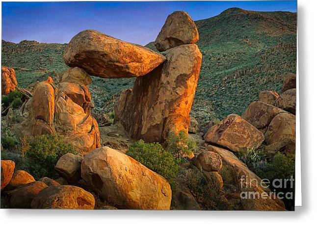 Big Bend Window Rock Greeting Card by Inge Johnsson