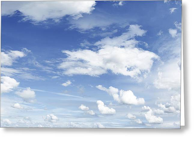Meteorology Greeting Cards - Big blue sky Greeting Card by Les Cunliffe