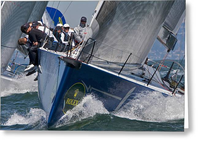 Ultimate Luxury Greeting Cards - Big Boat Series on San Francisco Bay Greeting Card by Steven Lapkin